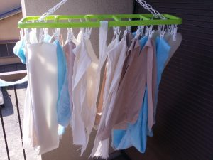 弾性包帯を洗う